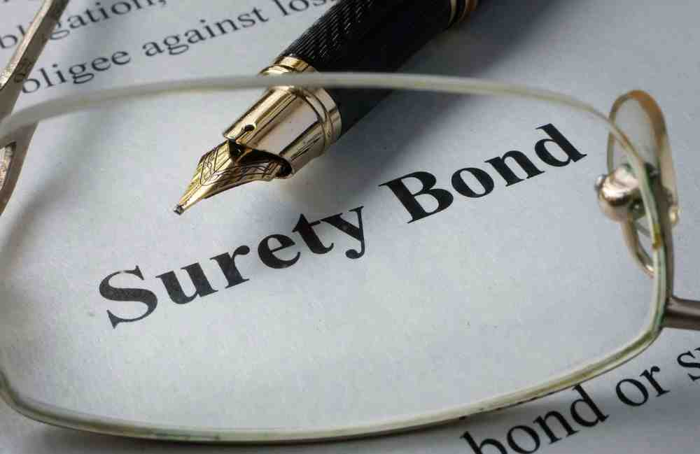 The words surety bond in a book about Bond insurance