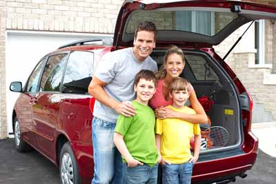 A family covered by personal insurance.