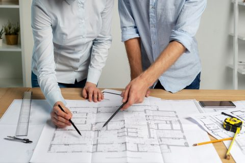 home renovation project blueprints covered by home insurance